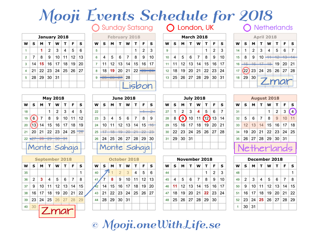 Events with Mooji – Mooji with Masters